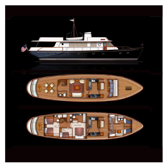 2019 reliant 75 classic motor yacht