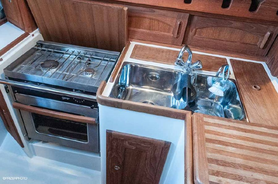 Pacific Seacraft 31 Sailboat Galley