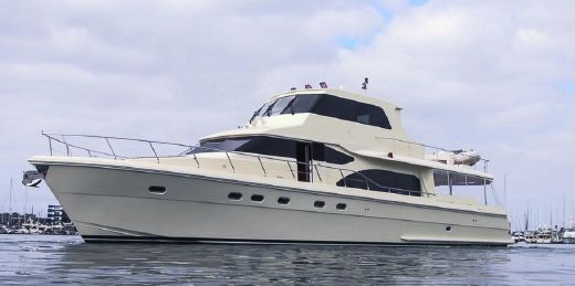 2006 Hampton 740 Yacht Fisher Skylounge