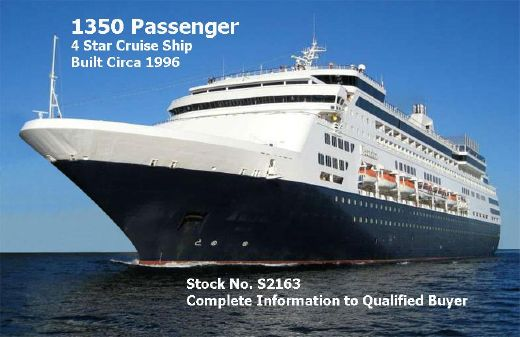 1996 Modern Cruise Ship, 1350 Passengers -Stock No. S2163