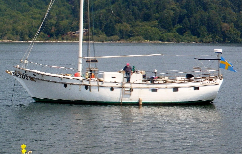 1978 custom wm garden gaff rig pilothouse cutter sail boat for 68 garden design gaff rigged schooner
