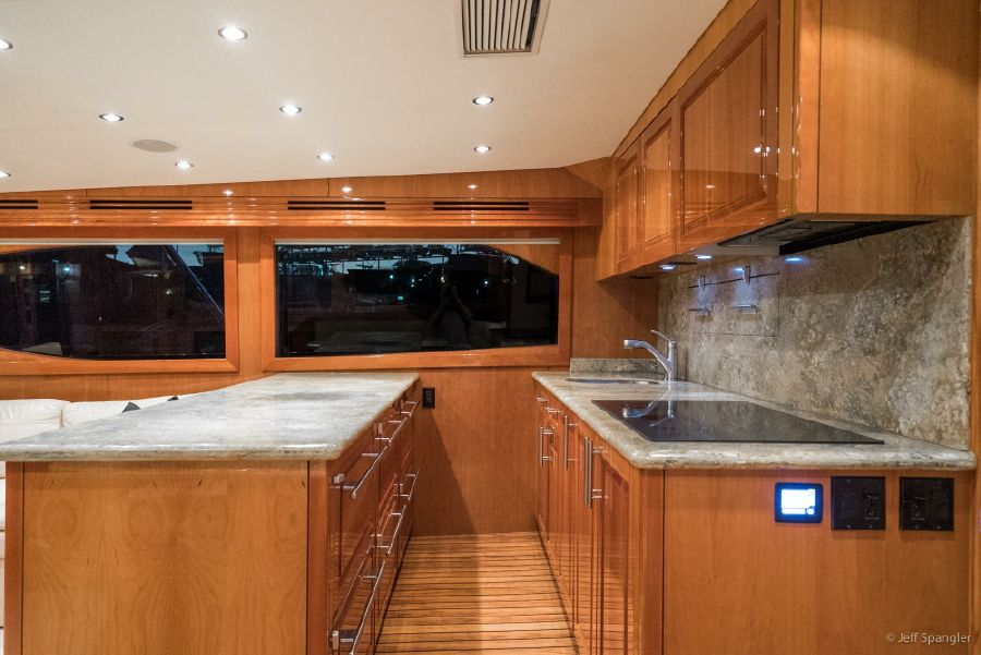 Hatteras 60 Convertible Galley