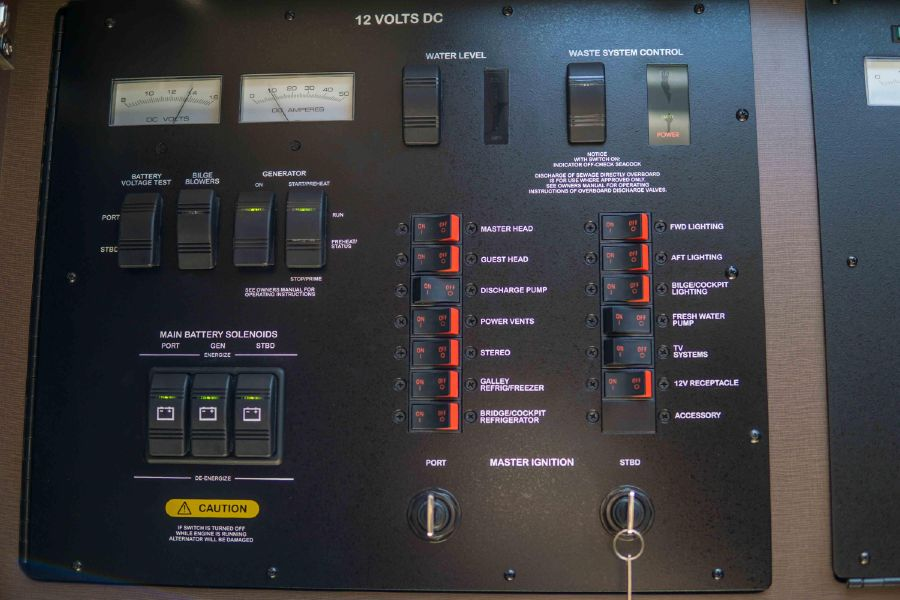 Sea Ray 470 Sundancer Electrical Panel