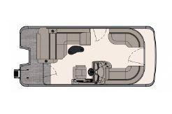 2020 Tahoe Pontoon LTZ Cruise Rear Bench 20'
