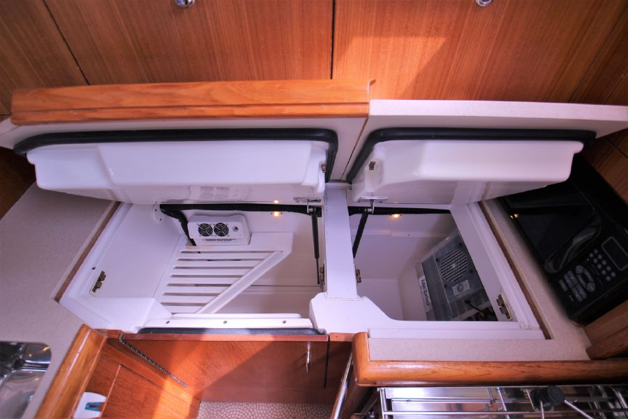 Hunter 456 Sailboat Galley Refrigerators
