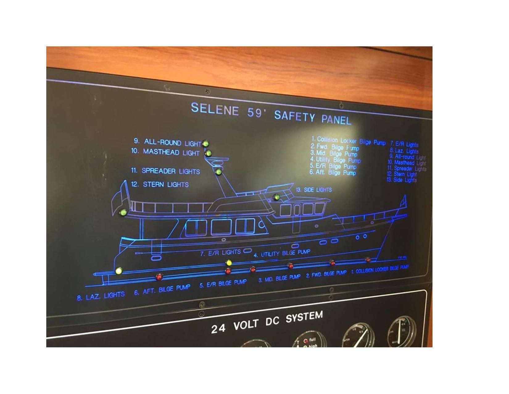 2007 Selene 59 Motor Båt til salgs