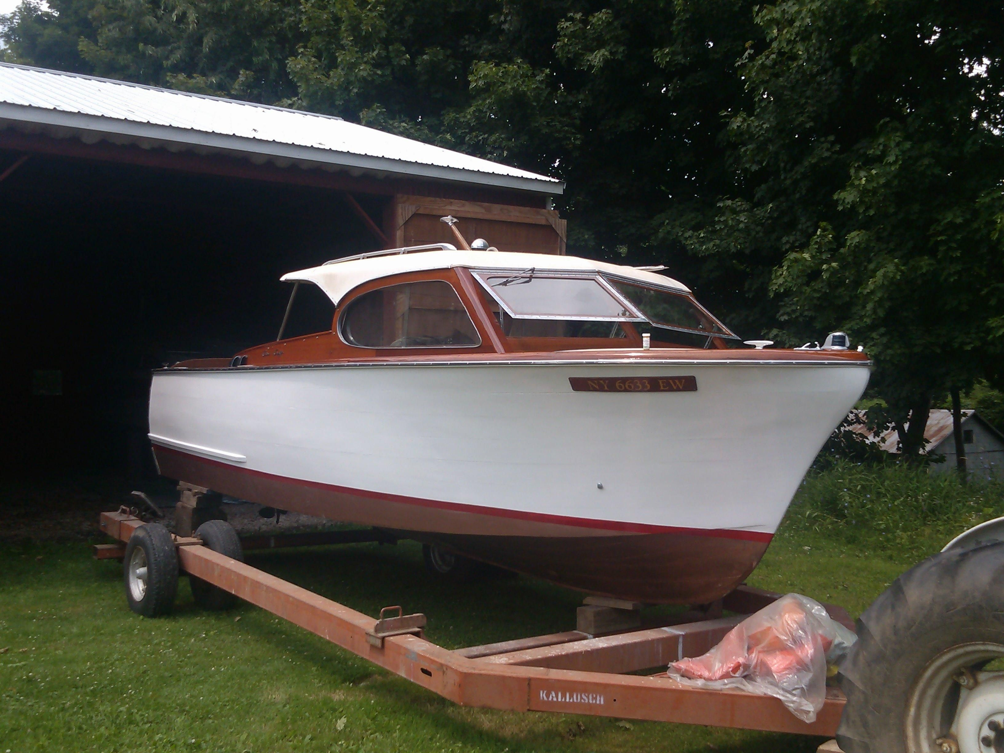 1957 chris craft 24 semi enclosed cruiser power new and for Chris craft cruiser for sale