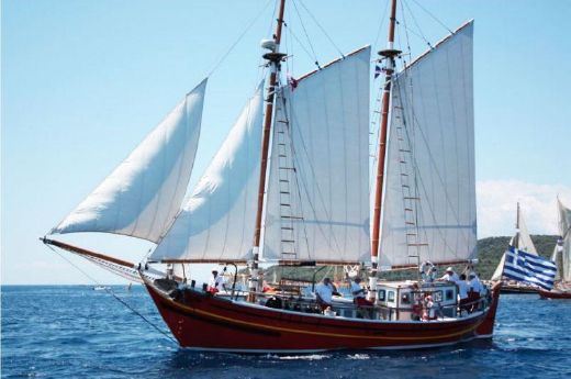 1945 Greek Traditional Gaff Rigged Schooner
