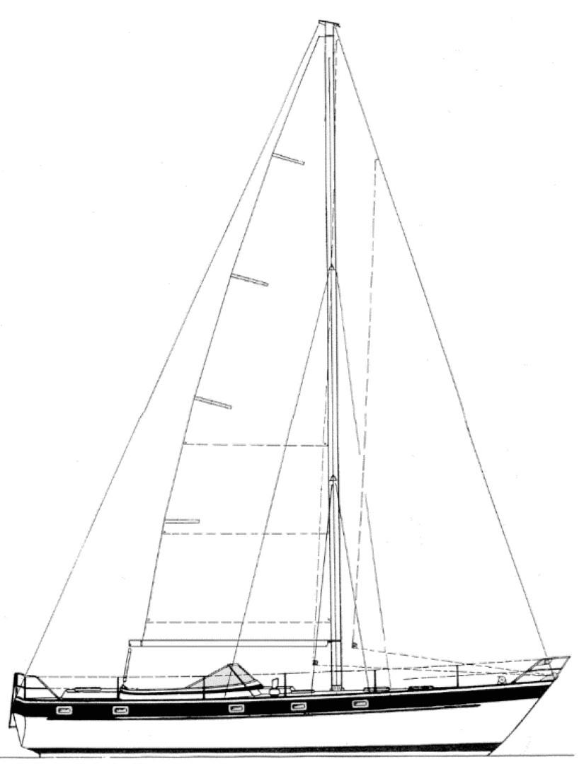 1987 Hallberg Rassy 42e Sail Boat For Sale