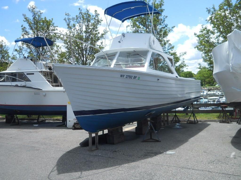 1963 chris craft sea skiff flybridge power boat for sale for Skiff craft boats for sale