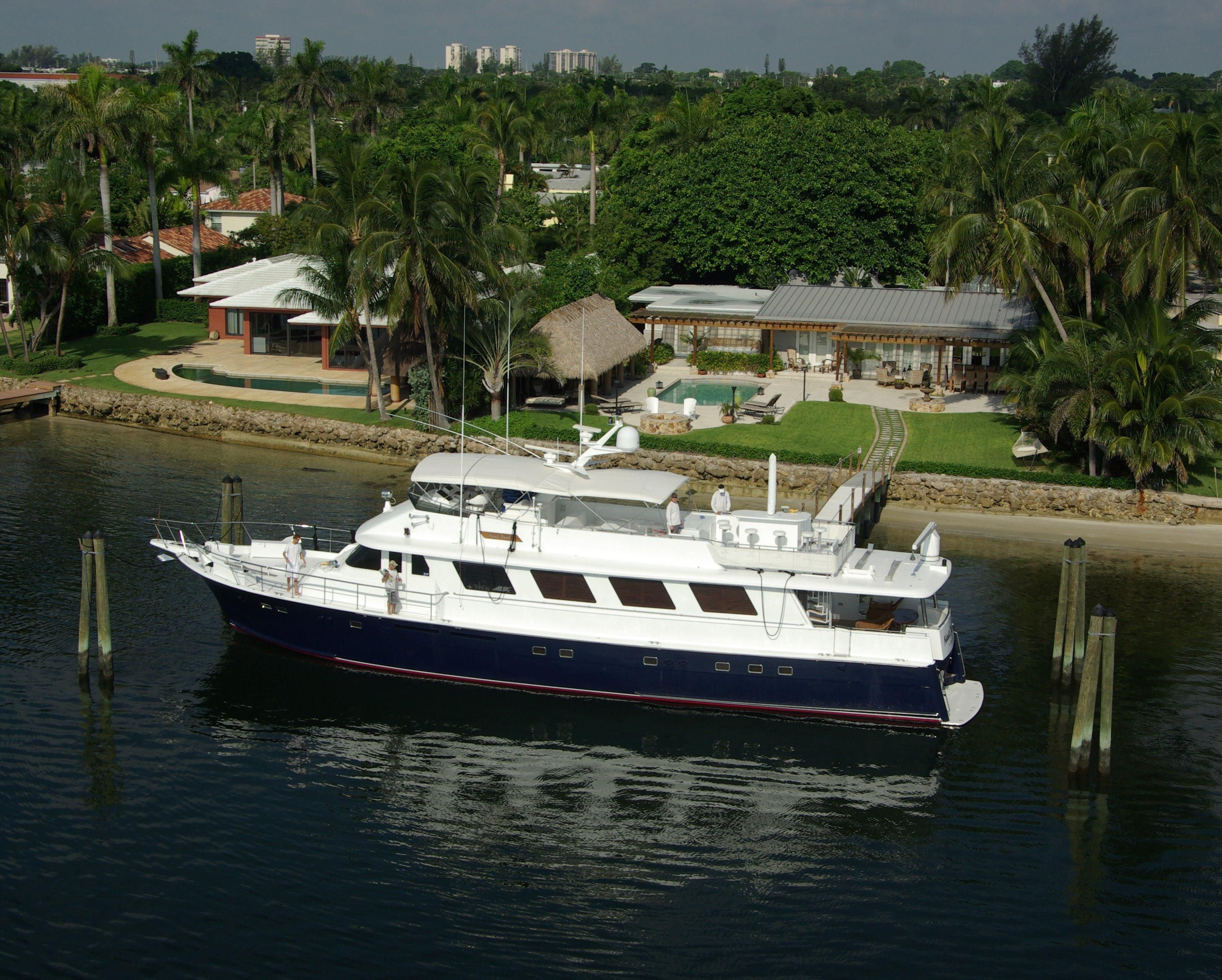1986 hatteras 90 motor yacht power boat for sale www for Boat motors for sale in florida