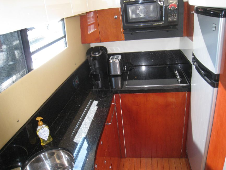 Fairline 62 Squadron Kitchen Galley
