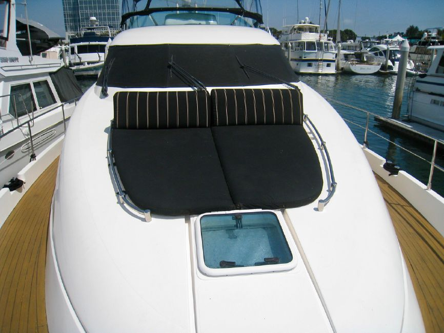 Fairline 62 Squadron Yacht Bow Cushions
