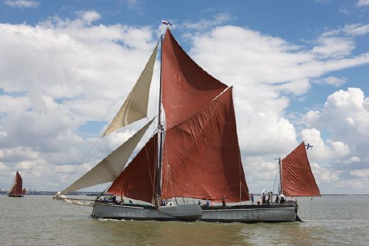 1926 Thames Sailing Barge with London mooring
