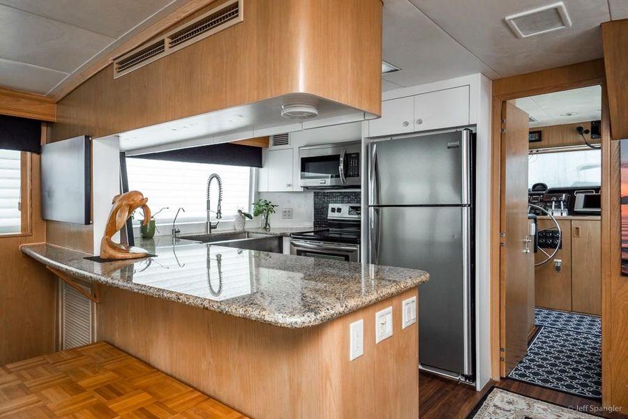 Hatteras 70 Galley Kitchen