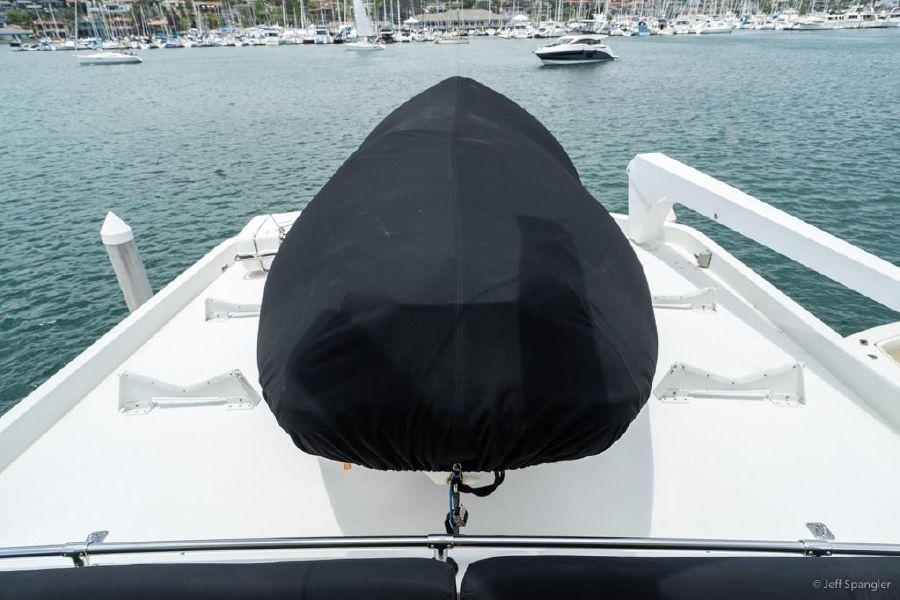 Hatteras 70 Motor Yacht Tender Storage