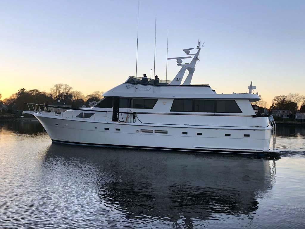 hatteras  motor yacht power boat  sale wwwyachtworldcom