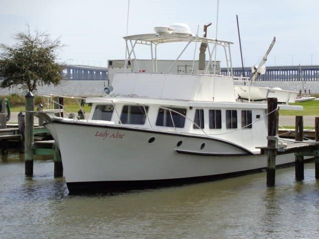 1982 trawler vs custom trawler power boat for sale www for Fishing camps for sale in mississippi