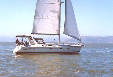 1995 Hunter 430 fractional rig sloop