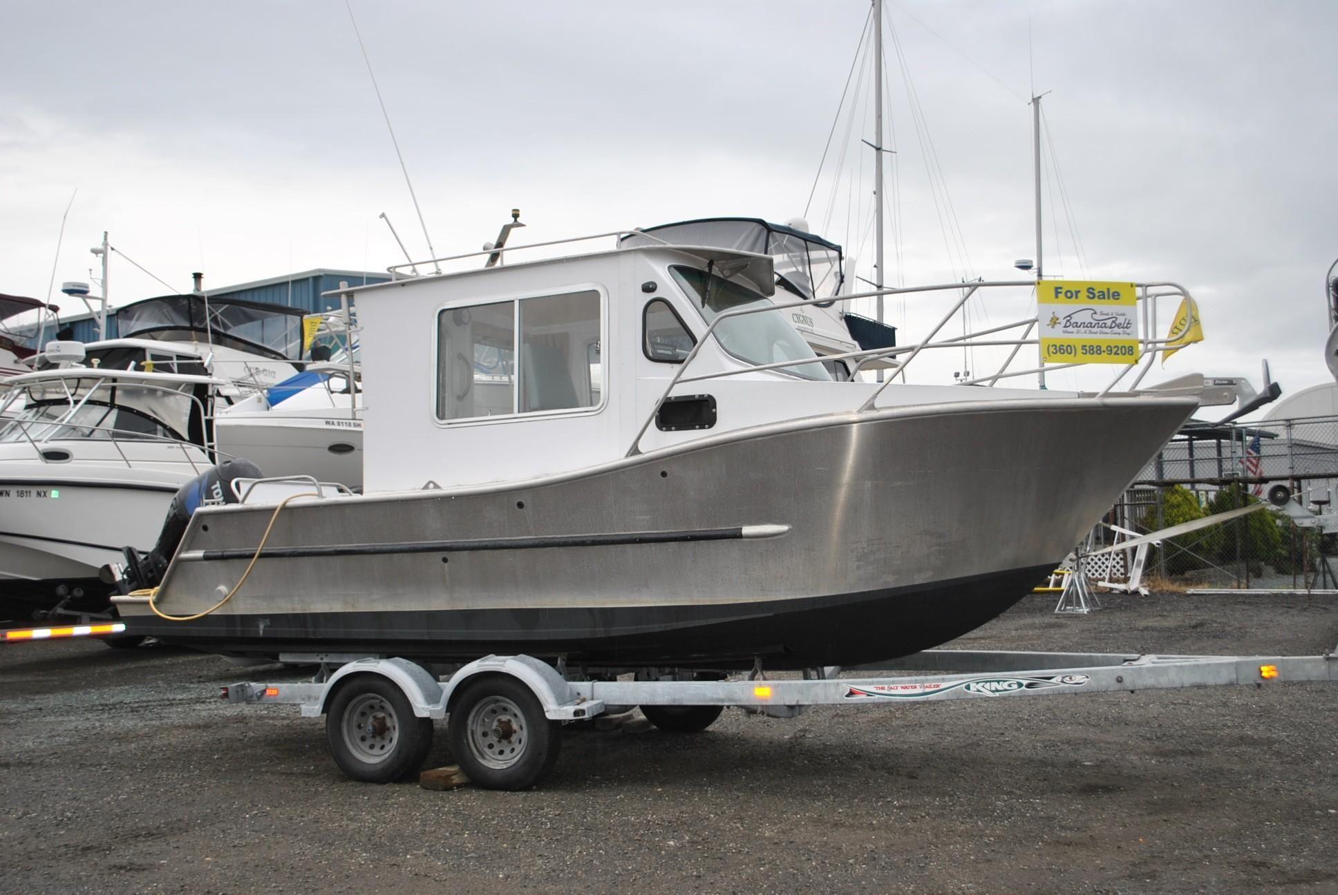 2016 Custom 24 Aluminum Pocket Cruiser Motor Båt til salgs