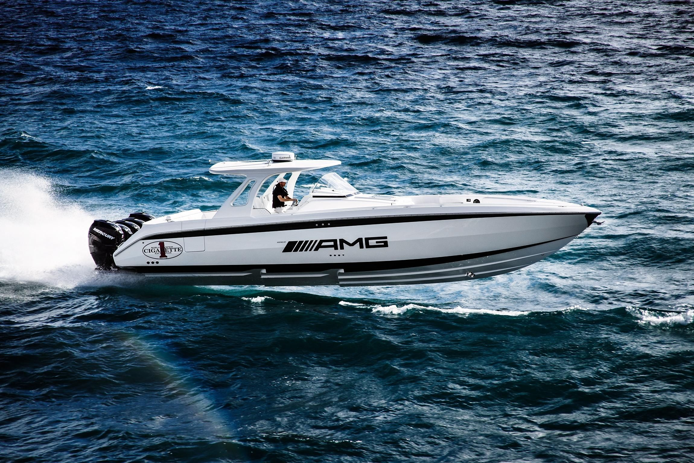 2018 cigarette 42 huntress power boat for sale www for Mercedes benz yacht cost