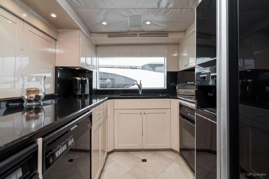 Hatteras 70 Luxury Yacht Galley