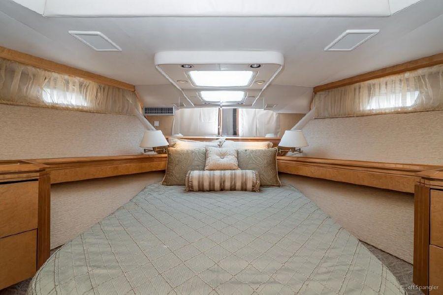 Hatteras 70 Luxury Yacht Forward Stateroom