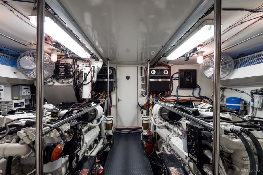 Hatteras 70 Luxury Motor Yacht Engine Room