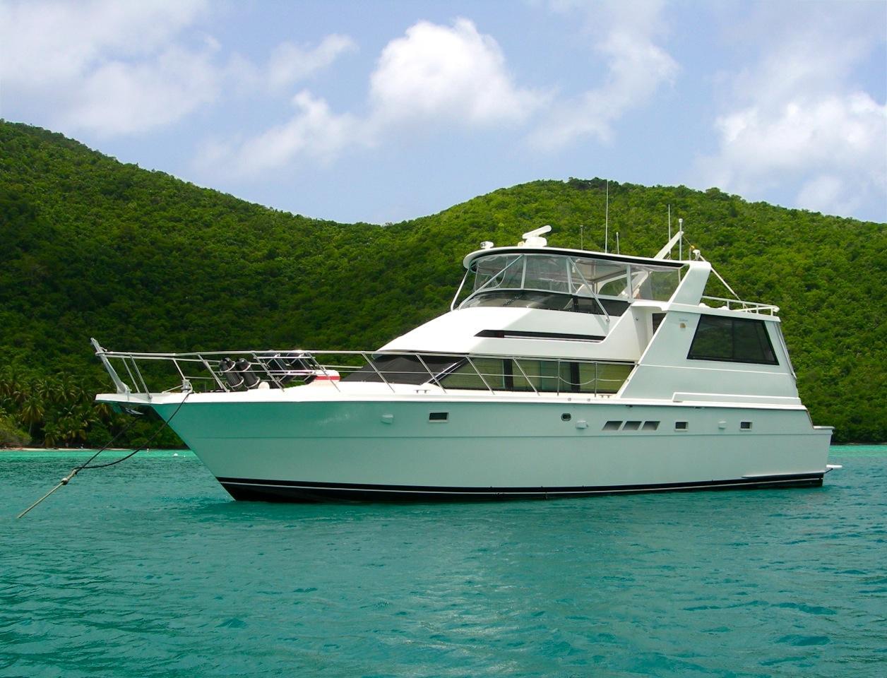 1997 hatteras motor yacht fly bridge power boat for sale