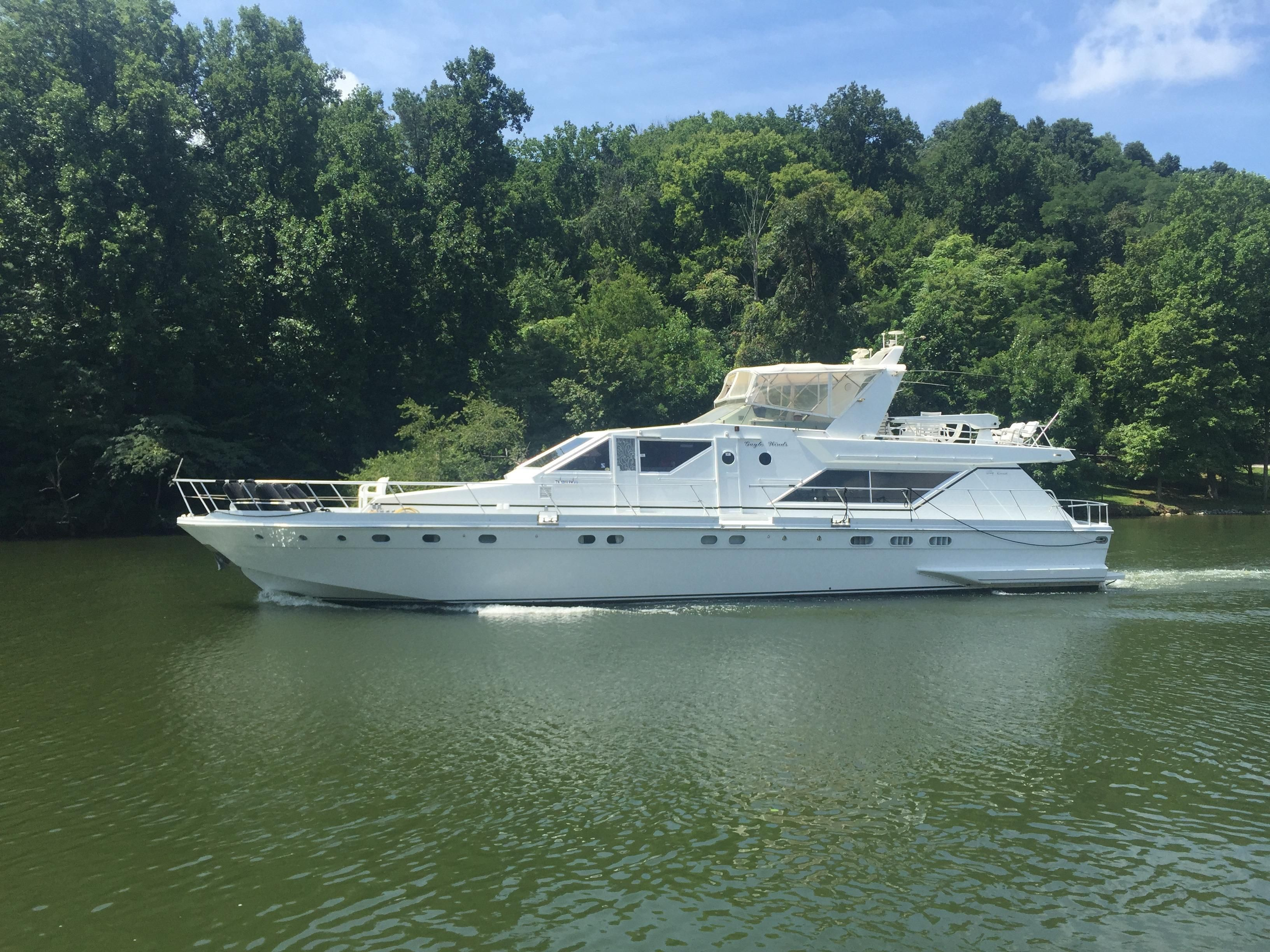 1985 guy couach 2200 fly power new and used boats for sale for Clayton motor co west knoxville tn