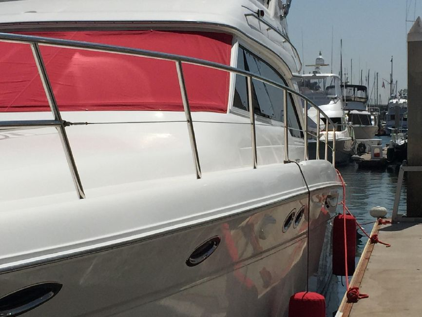 Sea Ray 480 Sedan Side Profile