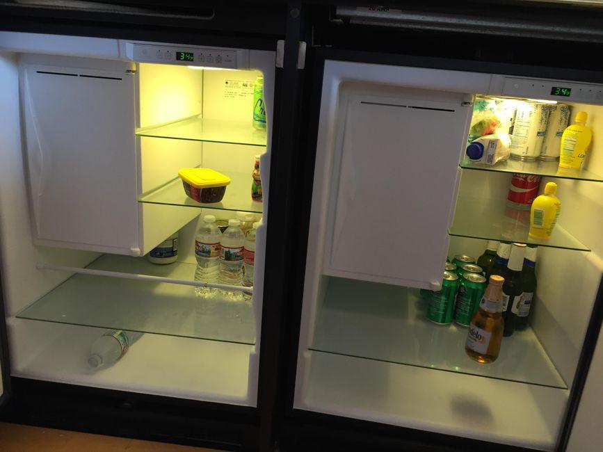 Sea Ray 480 Sedan Galley Refrigerators