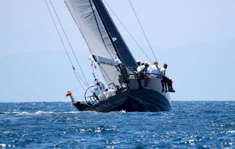 Rogers 46 Carbon Fiber Racing Sailboat at sea