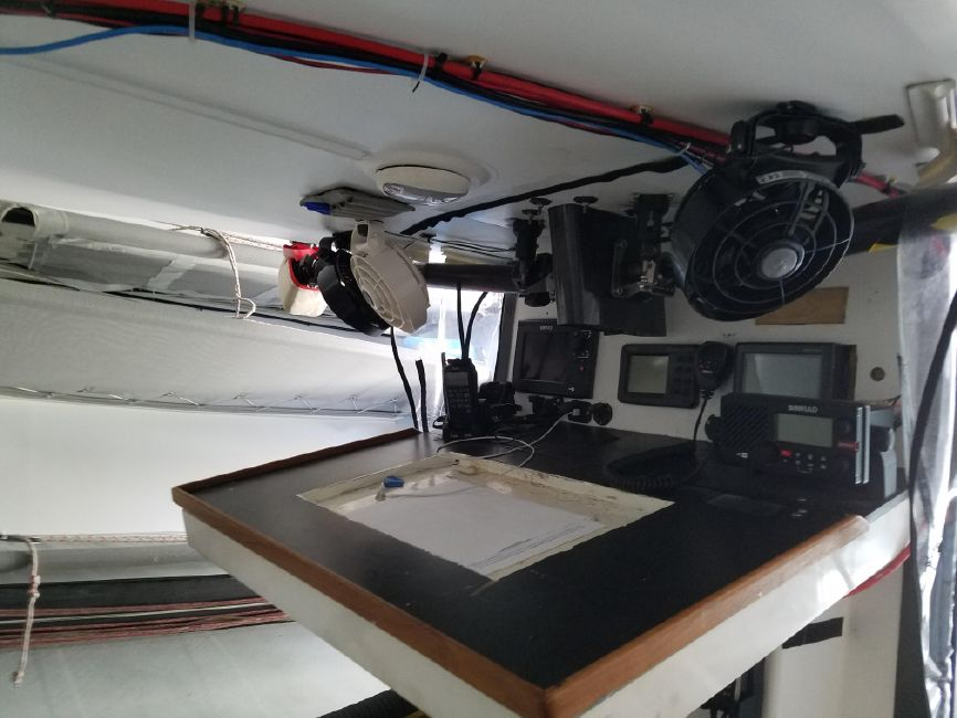Rogers 46 Carbon Fiber Sailboat Nav Station