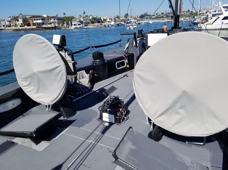 Rogers 46 Carbon Fiber Sailboat Dual Helm Stations
