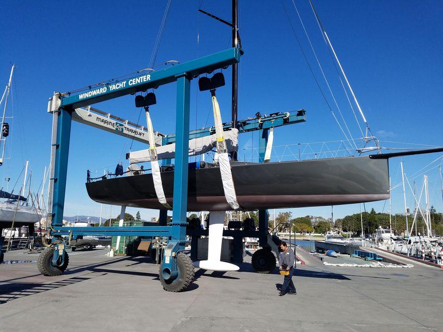Rogers 46 Carbon Fiber Sailboat Hauled Drydock