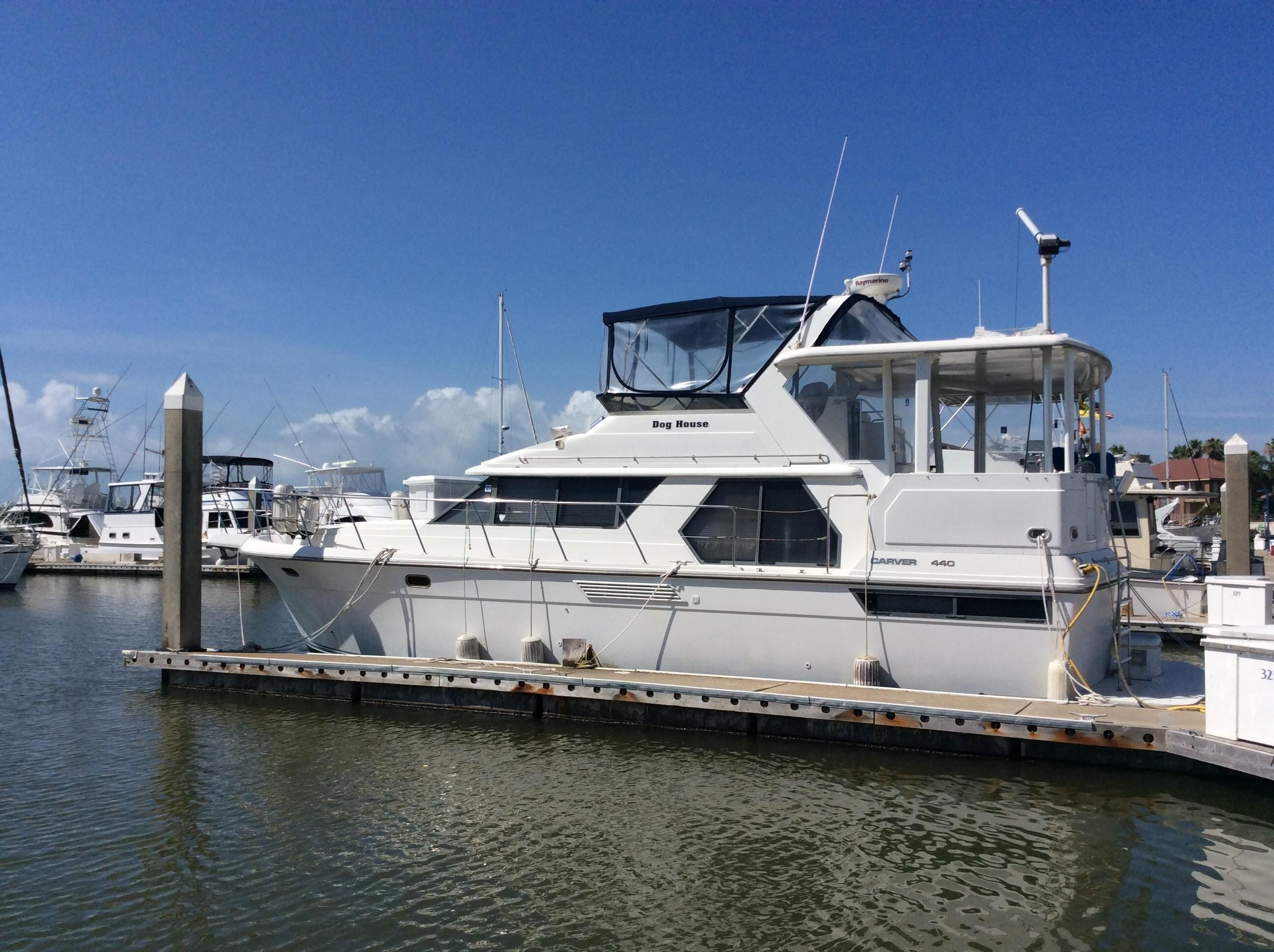 1994 carver yachts 440 aft cabin power boat for sale www for Carver aft cabin motor yacht