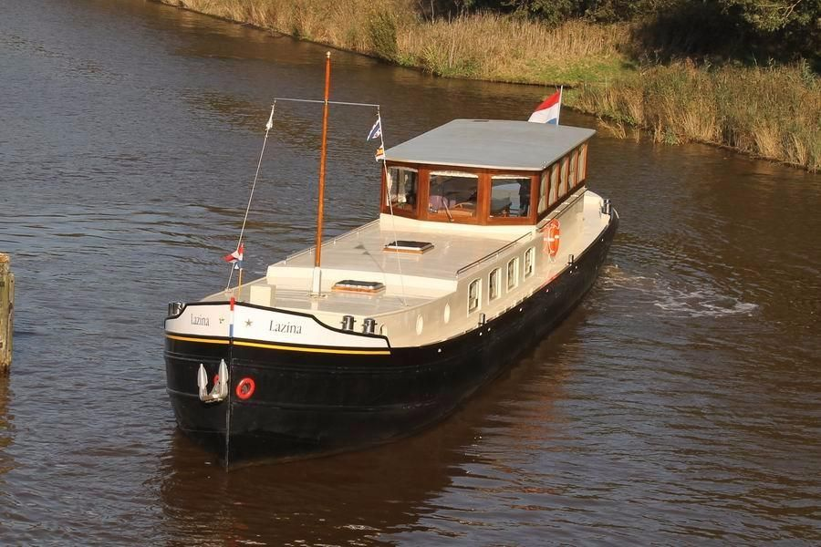 1928 dutch barge luxe motor power boat for sale www for Motors for boats for sale