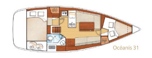 2011 Beneteau Oceanis 31 Lift Keel
