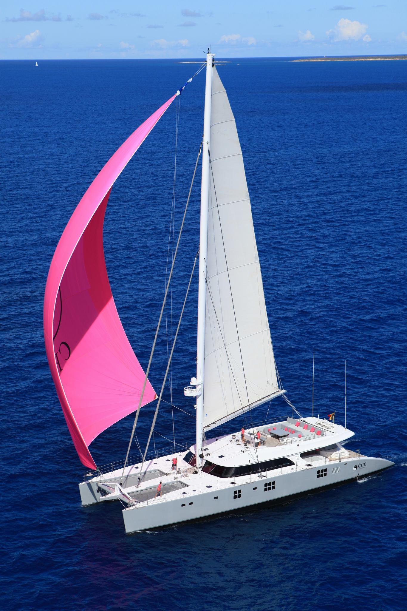 Sailing yacht catamaran