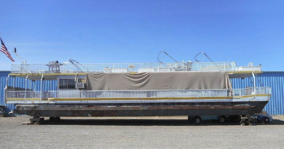 1987 Hansen 75 X 16 Pontoon Houseboat Power Boat For Sale