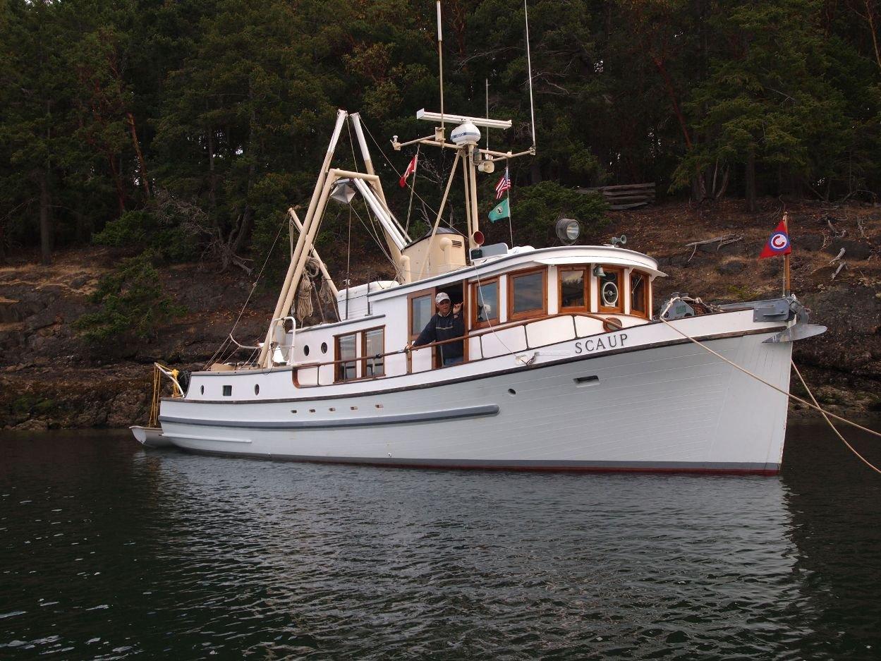 Trawler yachts for sale in washington for Garden design trawler boat