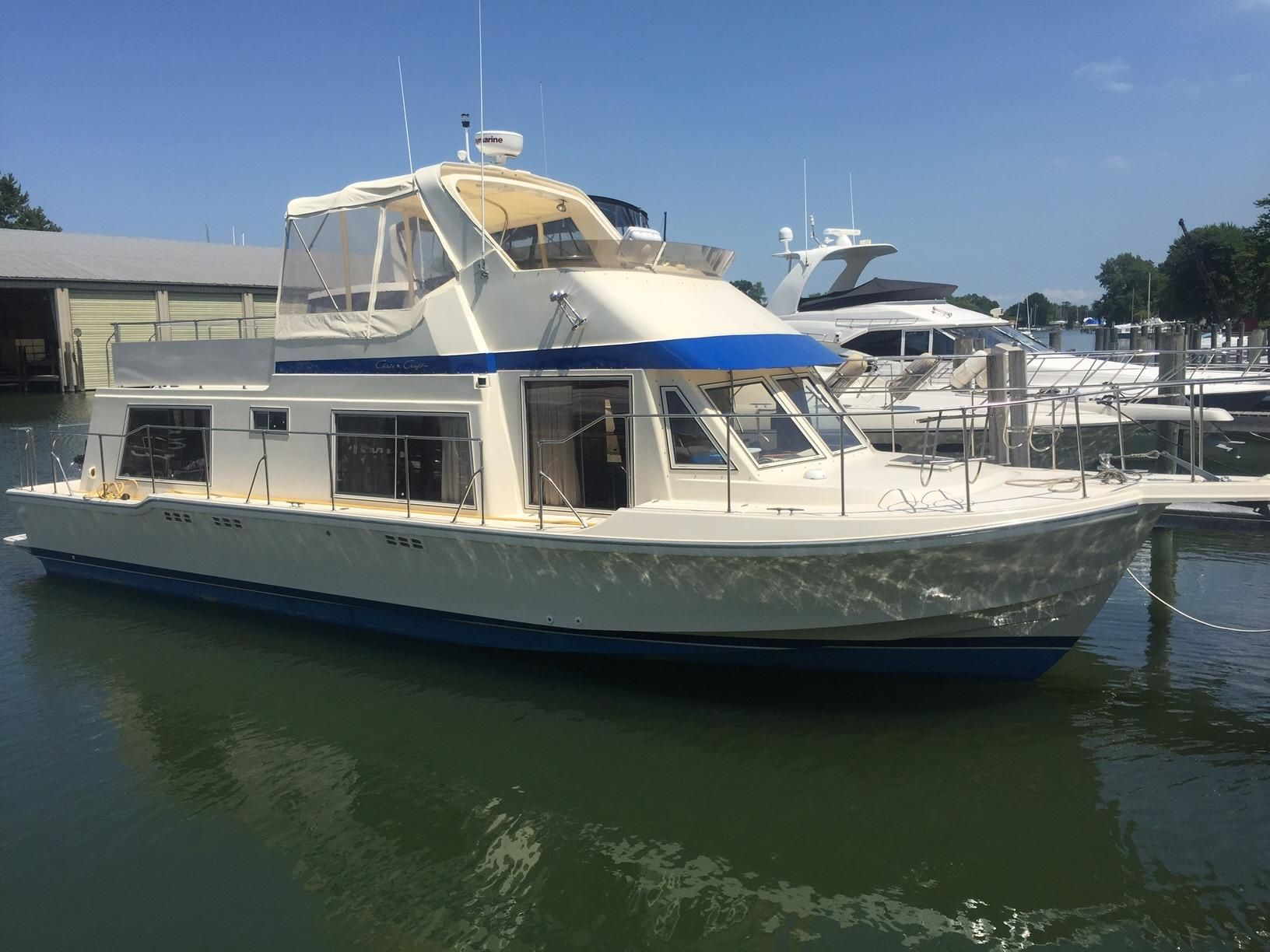 1985 Chris Craft Yacht Home Power Boat For Sale Www