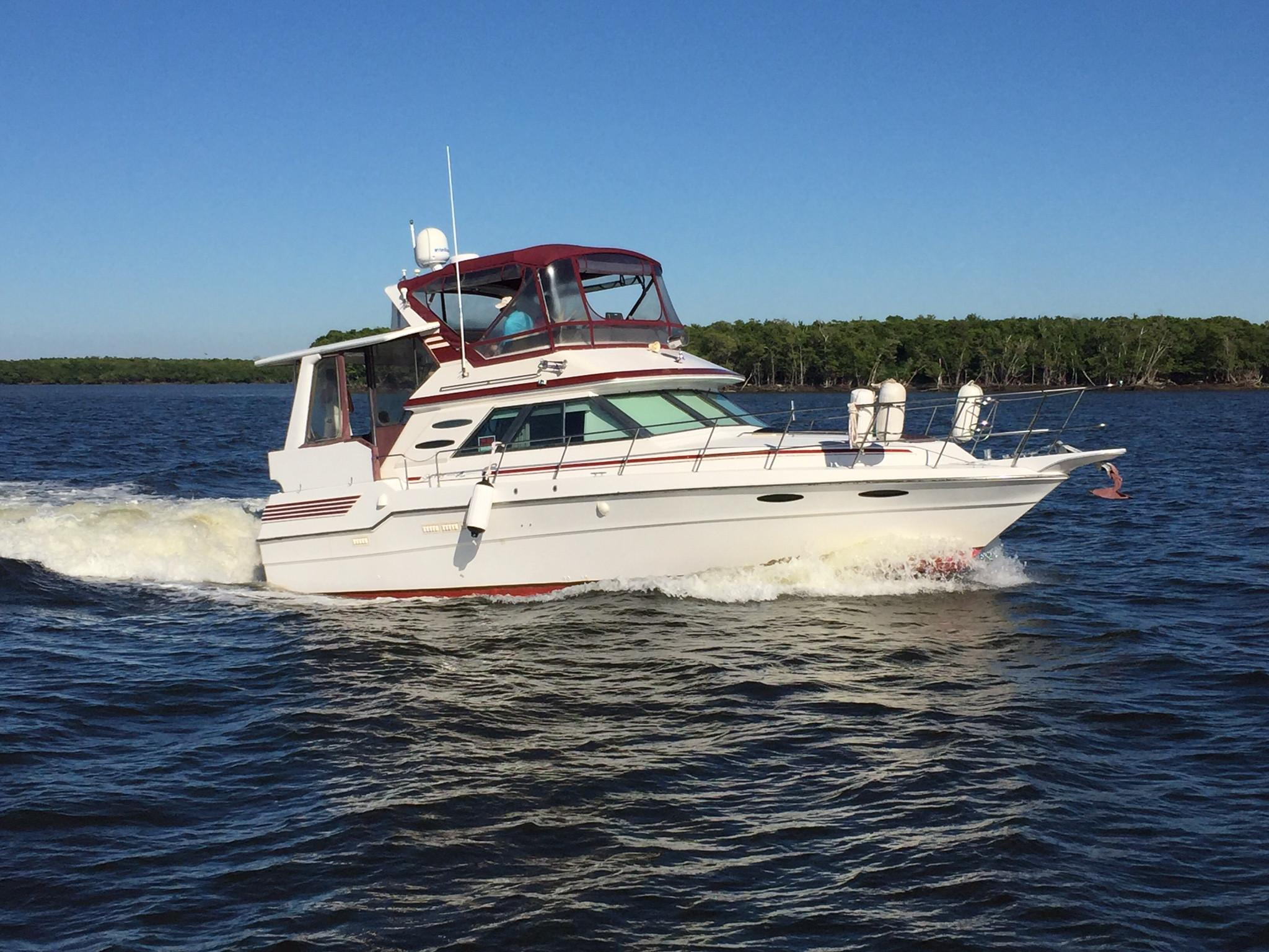 1987 Sea Ray 410 Aft Cabin Power Boat For Sale