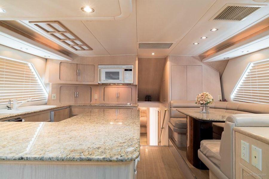 Hatteras 65 Convertible Interior Galley Kitchen