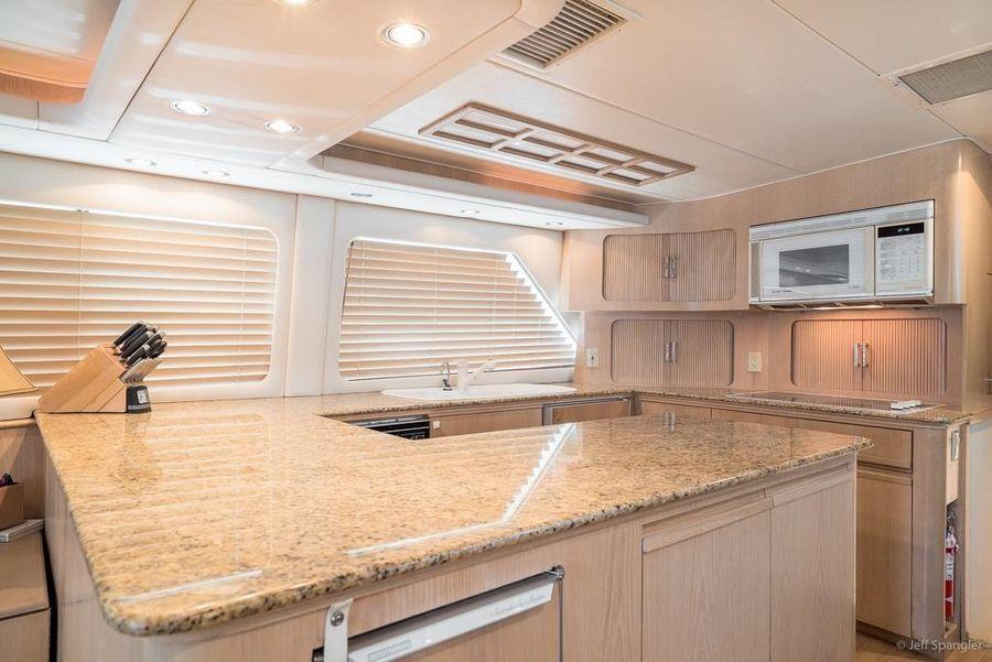 Hatteras 65 Convertible Interior Galley