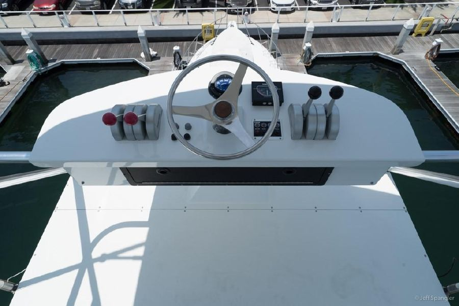 Hatteras 65 Convertible Tuna Tower Controls