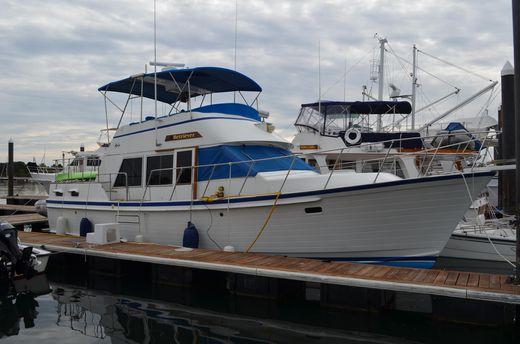 1986 Island Gypsy Trawler with raised aft deck