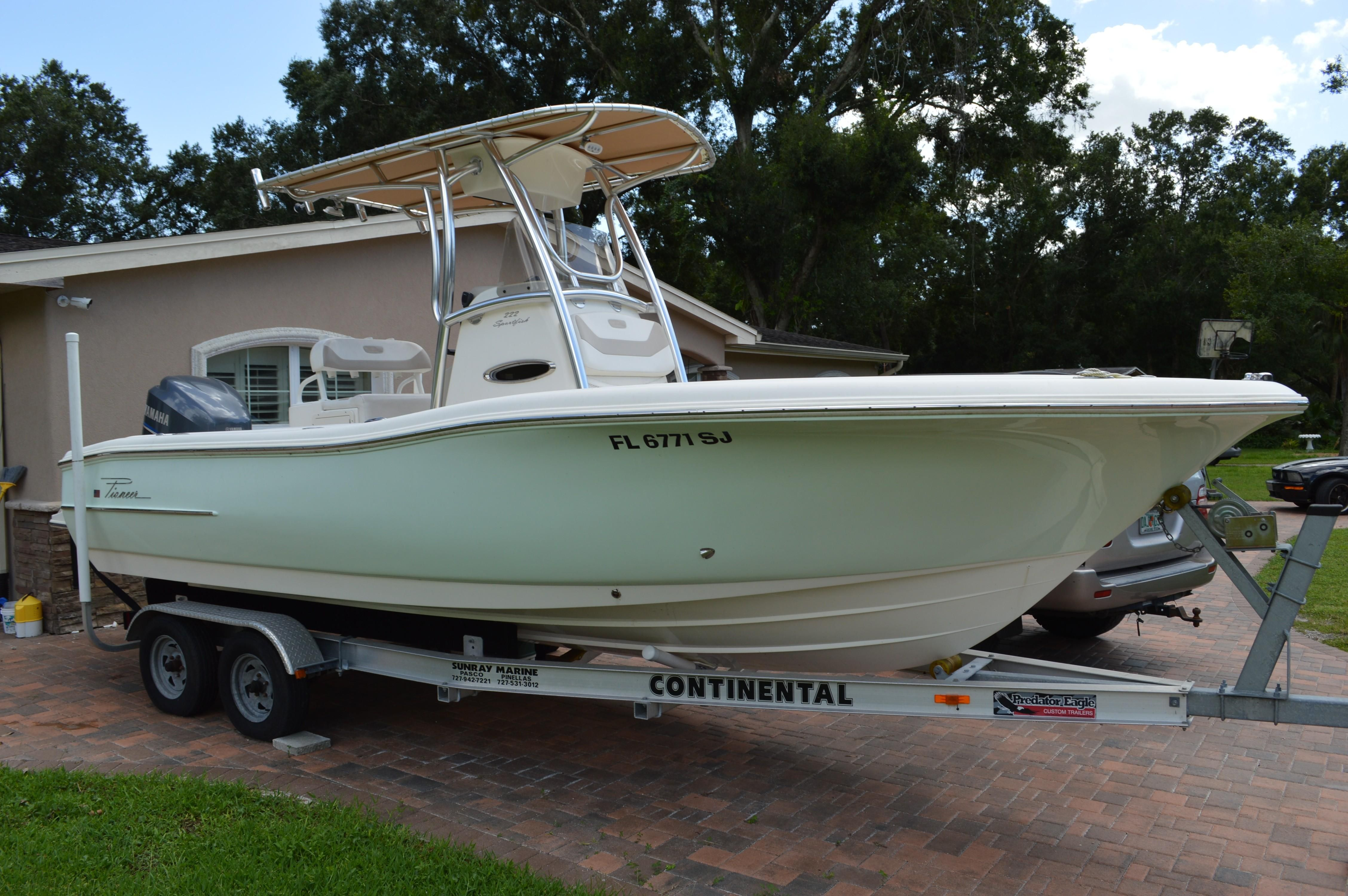 2015 Pioneer 222 Sportfish Power Boat For Sale As Well Eagle Trailers On Trailer Wiring