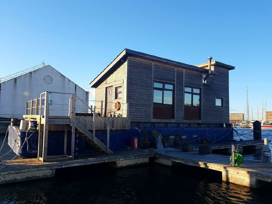 1970 Houseboat Converted Bacat Barge Power Boat For Sale